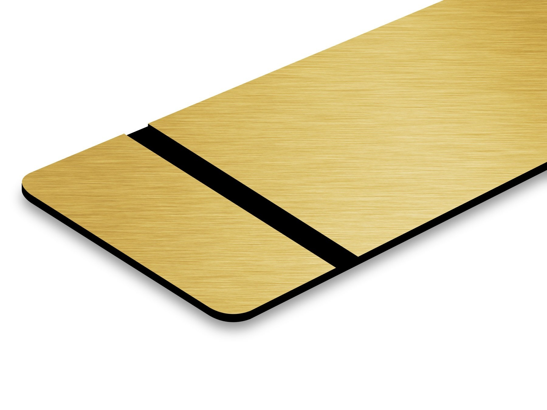 TroLase Thins, Brushed Gold/Black, 2ply, 0.5 mm