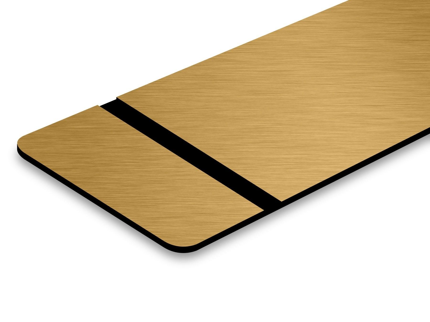 TroLase Thins, Brushed Bronze/Black, 2ply, 0.5 mm