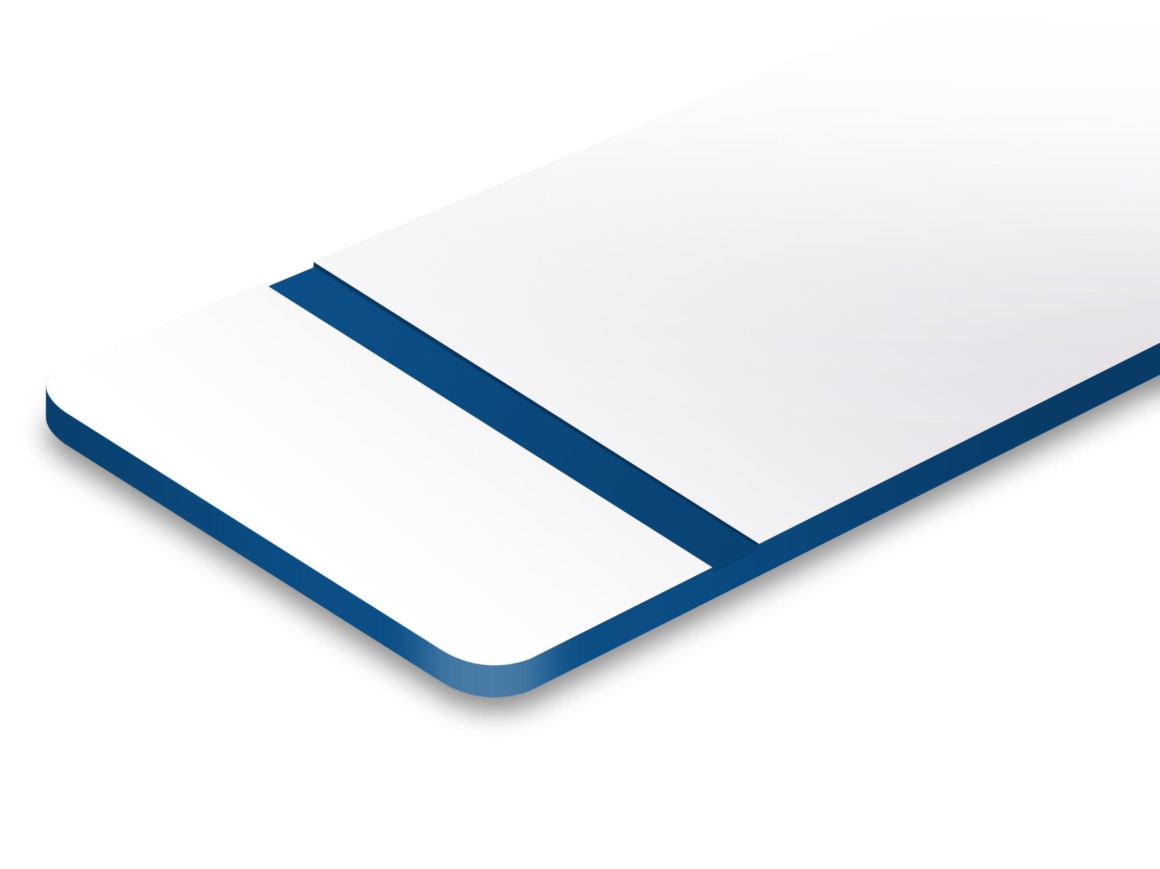 L205-203 Weiß/Blau 0,8mm