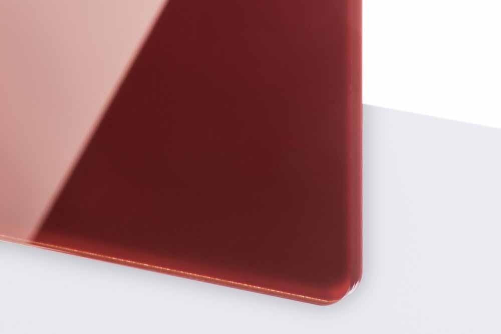 TroGlass Reverse 3mm glänzend/bordeaux