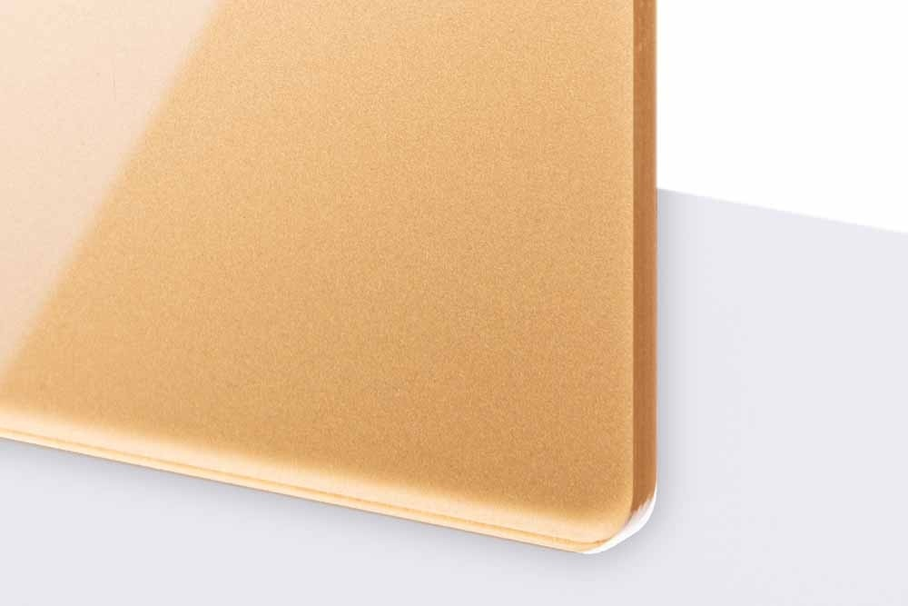 TroGlass Reverse 3mm glänzend/ bronzegold