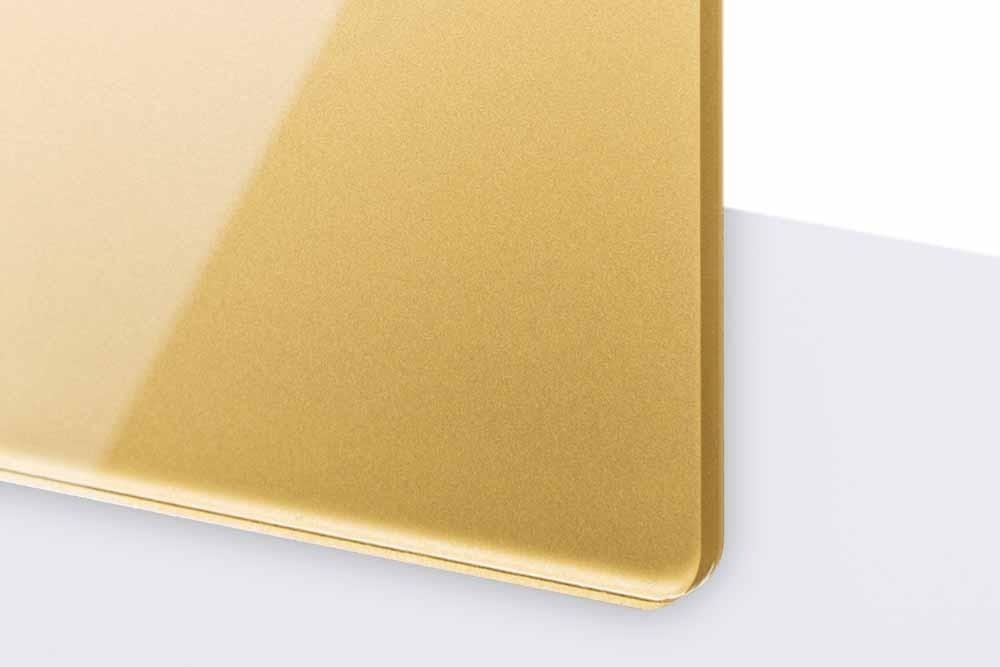 TroGlass Reverse 3mm glänzend/gold