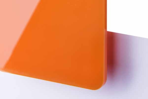 TroGlass Color Gloss Orange lichtdurchlässig 3mm
