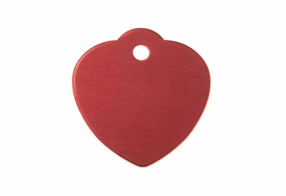 Corazón grande con lazo de aluminio rojo 31x32mm