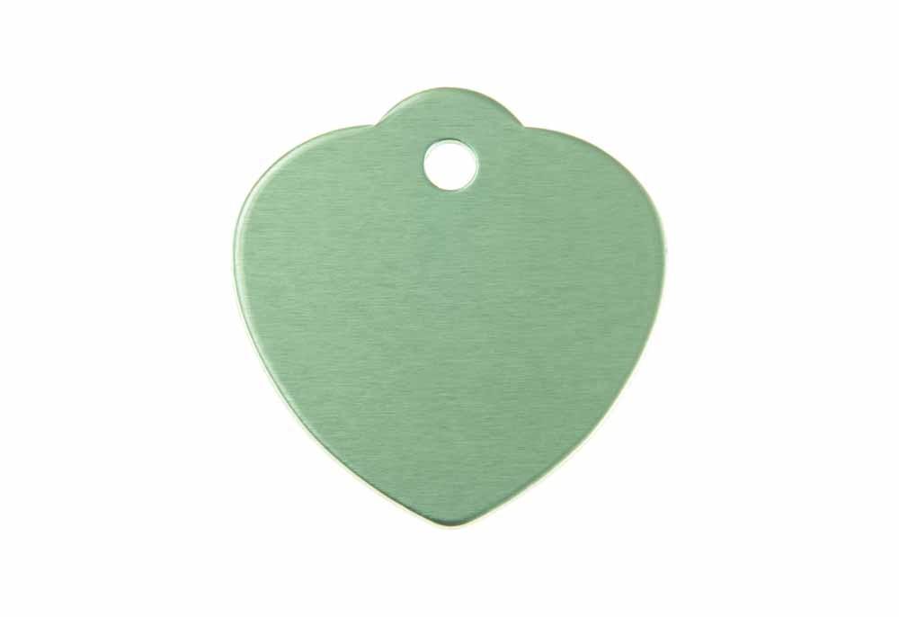 Corazón grande con lazo de aluminio verde 31x32mm