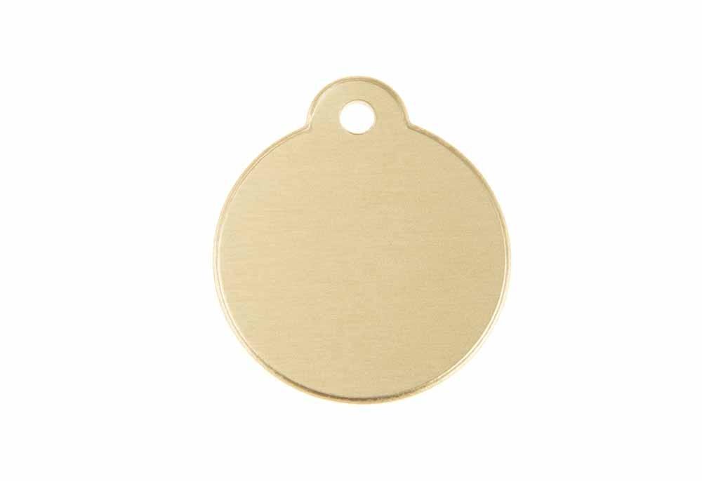 Círculo con lazo de aluminio dorado 27mm