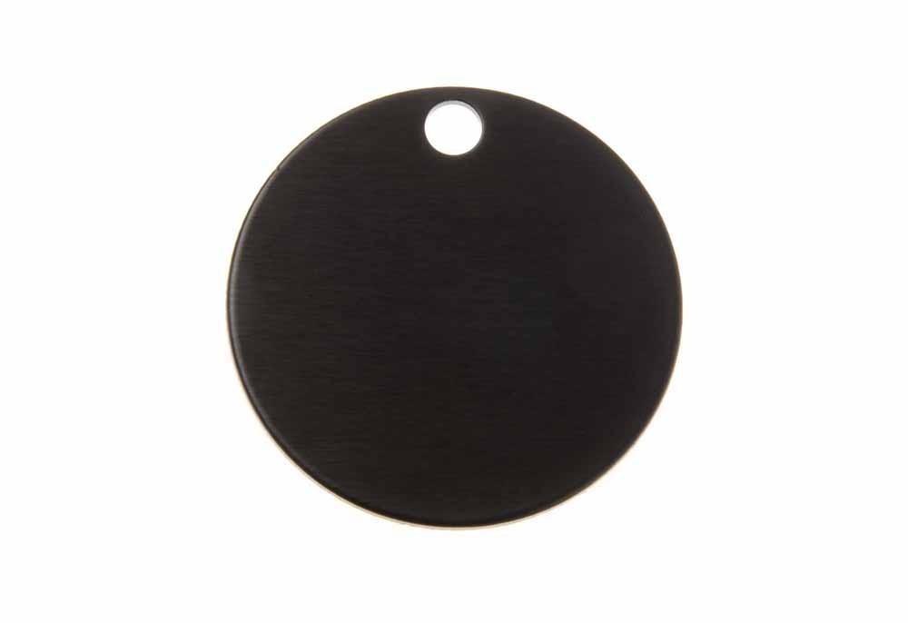Círculo grande de aluminio negro 32mm