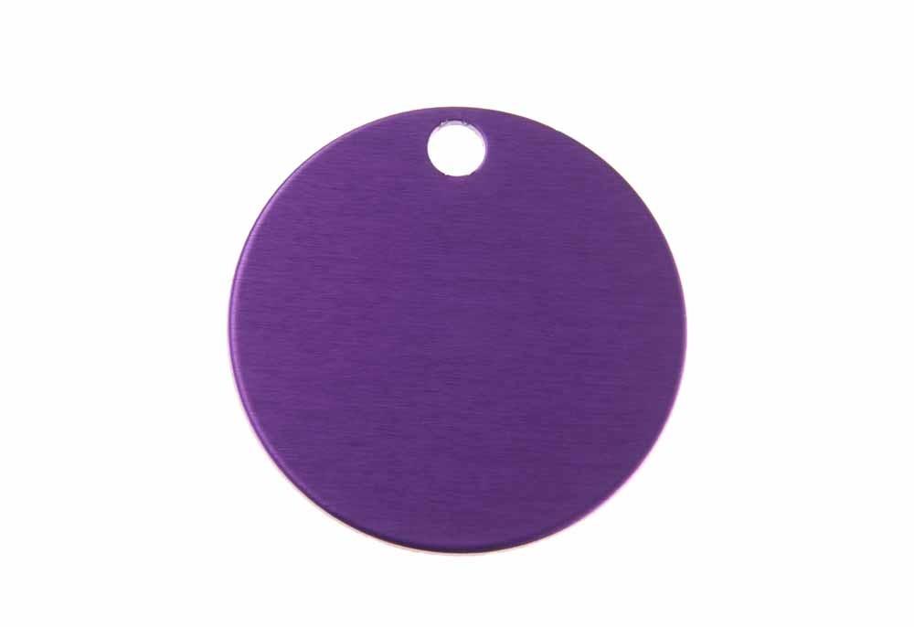 Círculo grande de aluminio violeta 32mm
