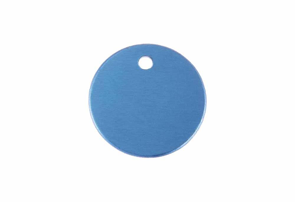 Círculo pequeño de aluminio azul 25mm