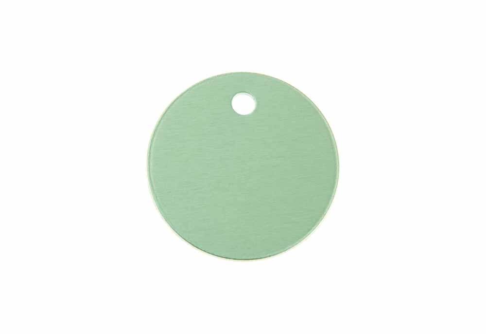Círculo pequeño de aluminio verde 25mm