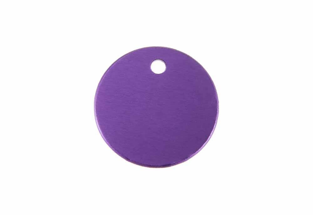 Círculo pequeño de aluminio violeta 25mm