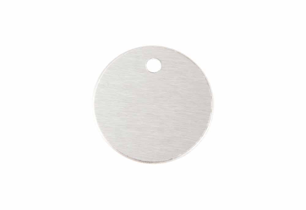 Círculo pequeño de aluminio plateado 25mm
