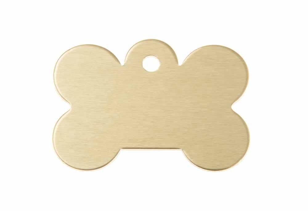 Hueso perro grande aluminio dorado 40x28mm