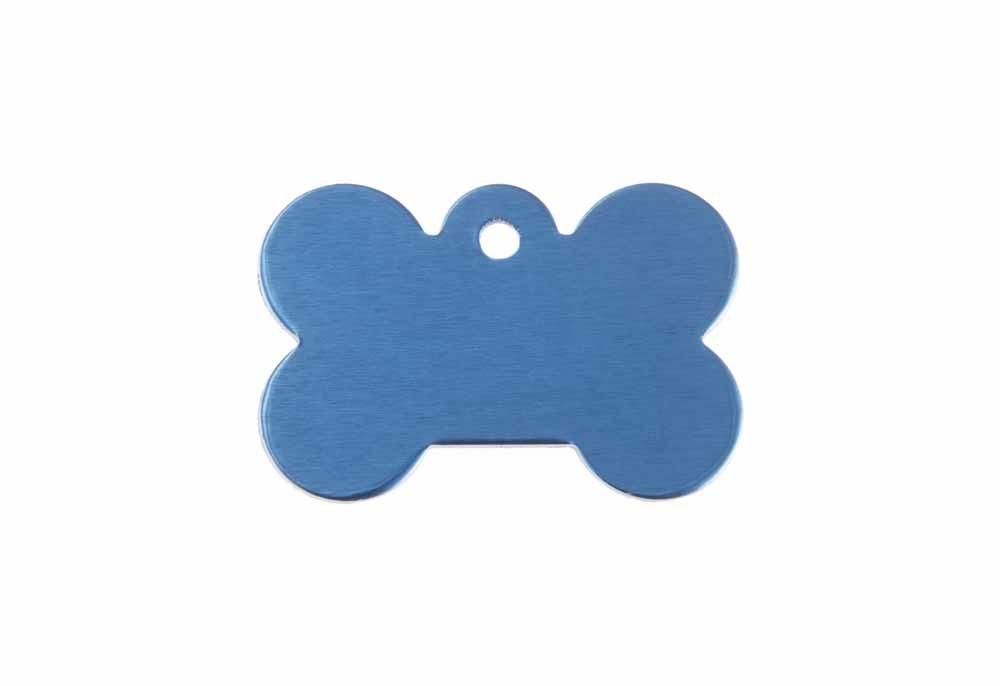 Hueso perro pequeño de aluminio azul 21x31mm