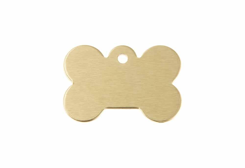 Hueso perro pequeño de aluminio dorado 21x31mm