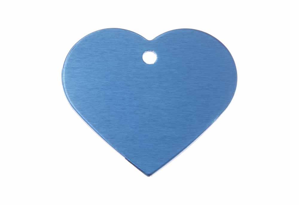 Corazón grande de aluminio azul 38x32mm