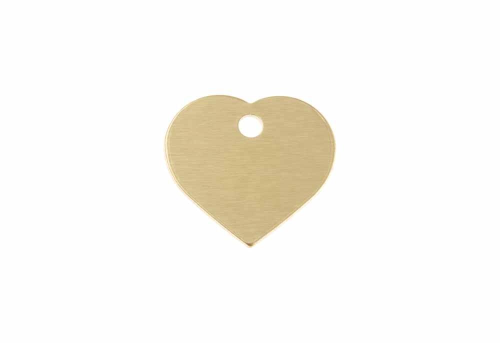 Corazón pequeño de aluminio dorado 20x22mm, pack de 20