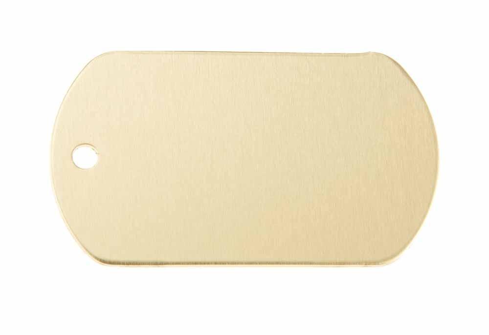 Chapa militar de aluminio dorada 50x29mm, pack de 20