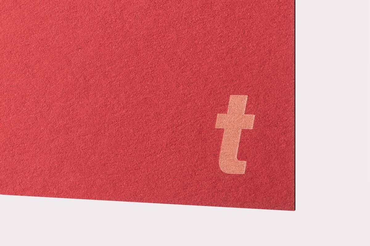 Papel láser Rojo 300gr 10uds
