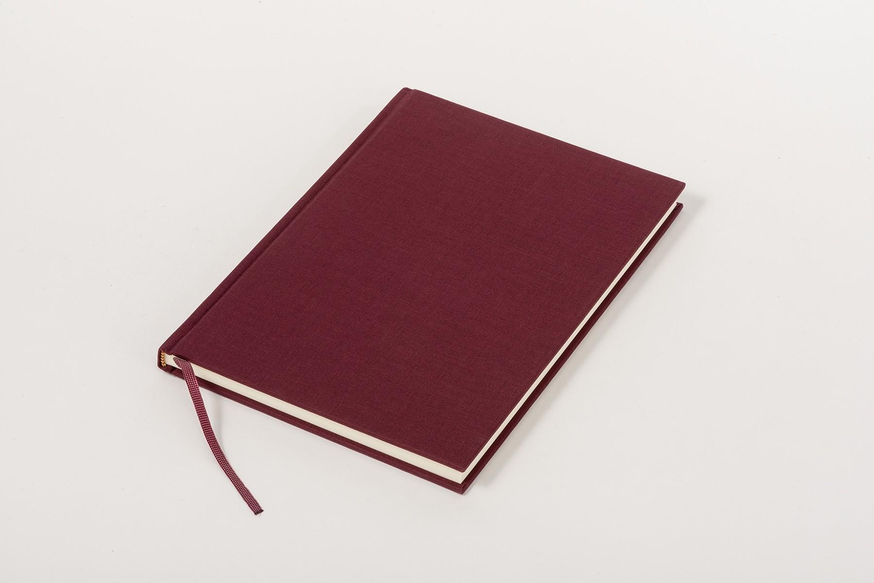 Libro de lino Clásico A5, Burdeos