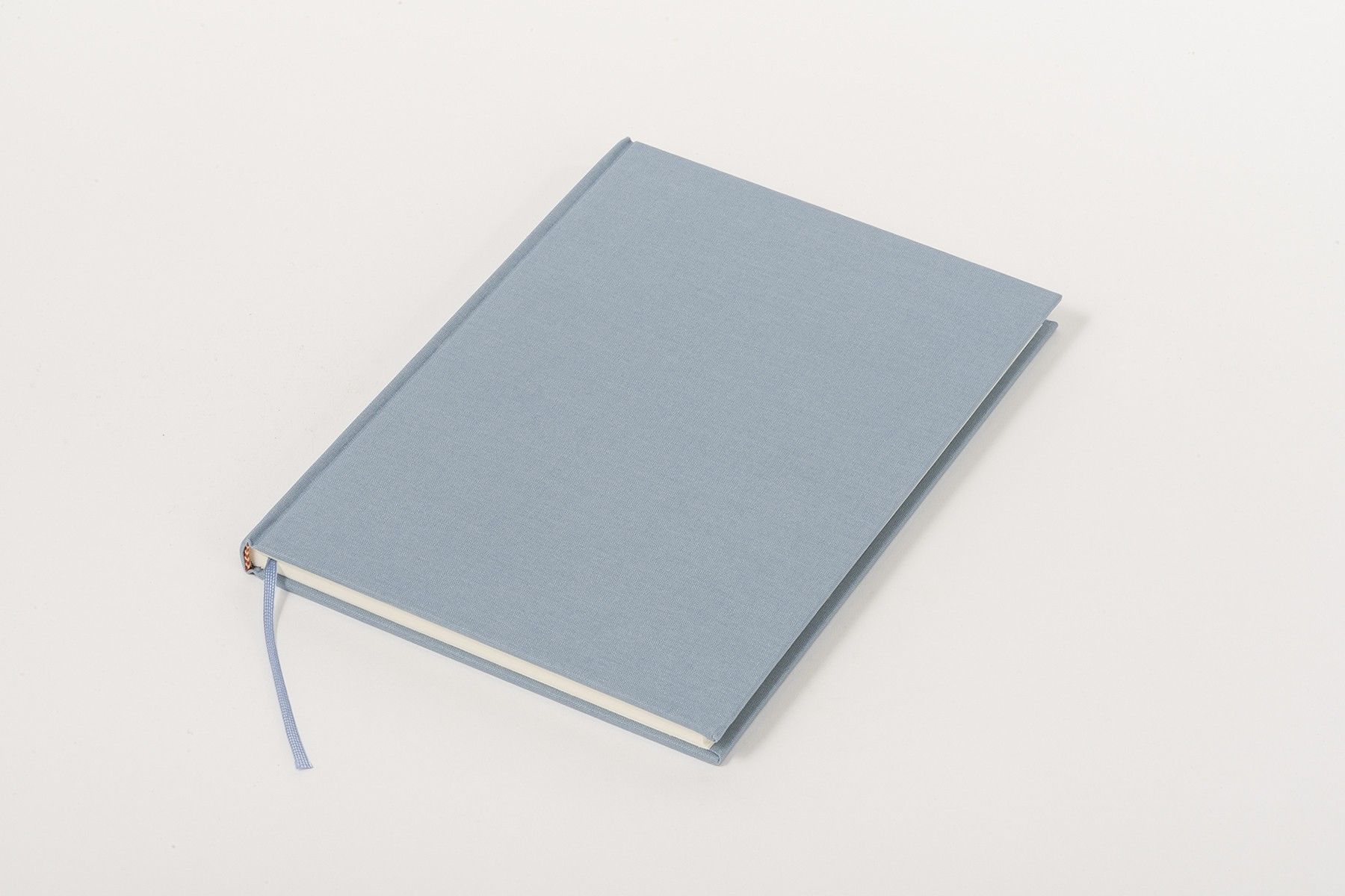 Libro de lino Clásico A5, Azul claro