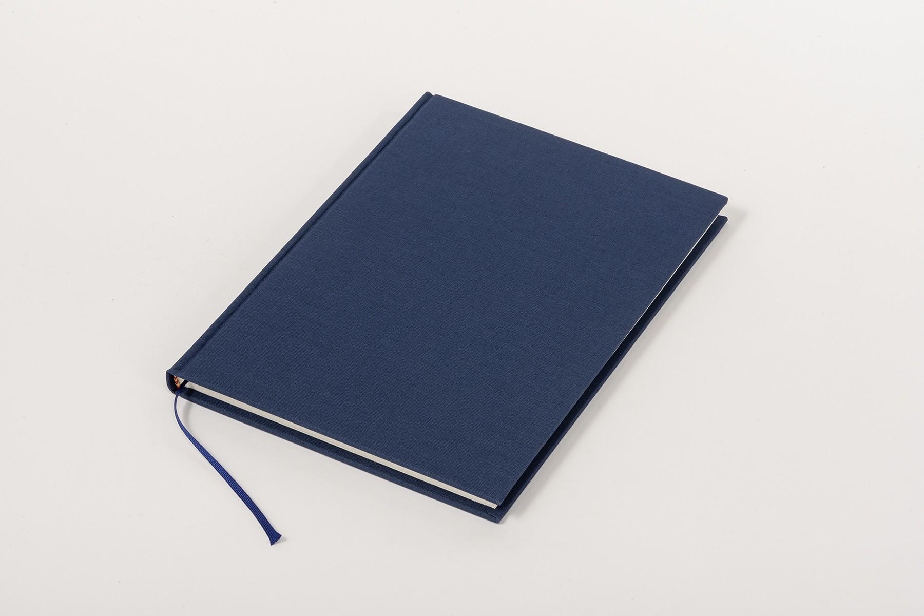 Libro de lino Clásico A5, Azul marino