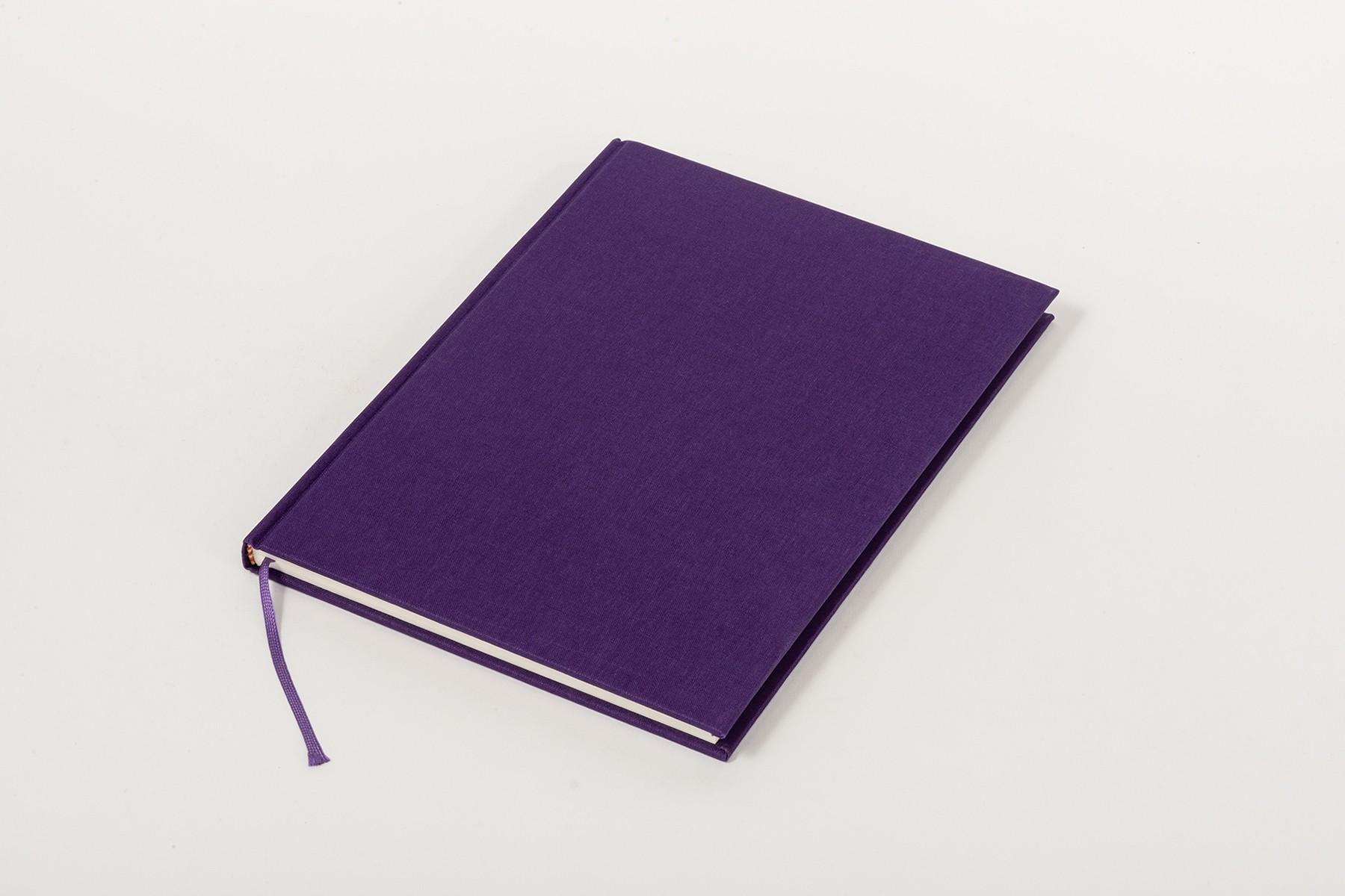 Libro de lino Clásico A5, Morado