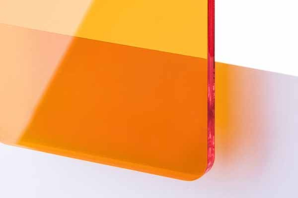 TroGlass Color Gloss Naranja Transparente, 3mm