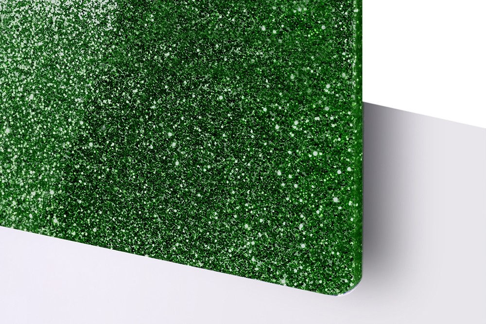 TroGlitter, Verde, 3mm
