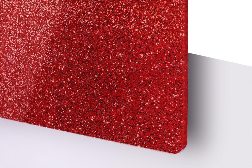 TroGlitter, Rojo, 3mm