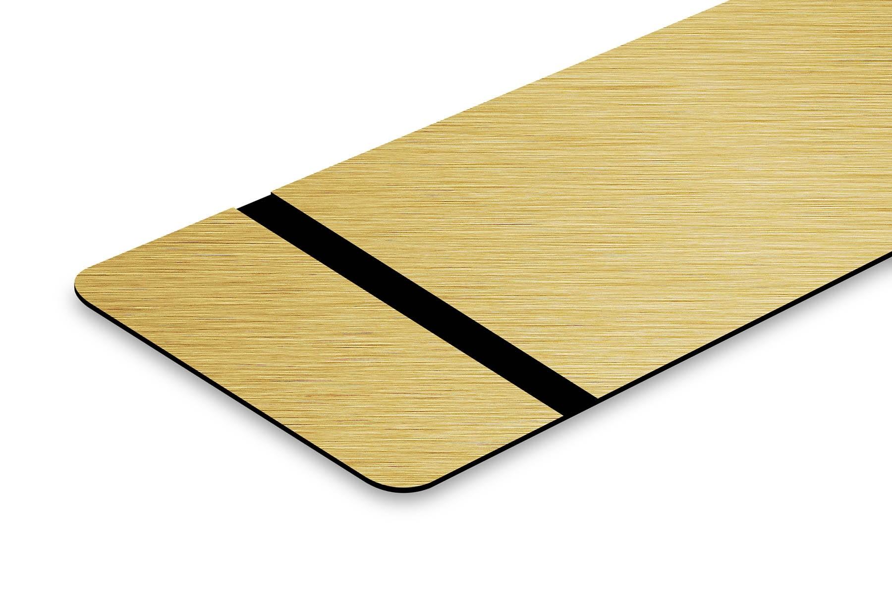 TroLase Foil Gold gebürstet/Schwarz 0,2mm