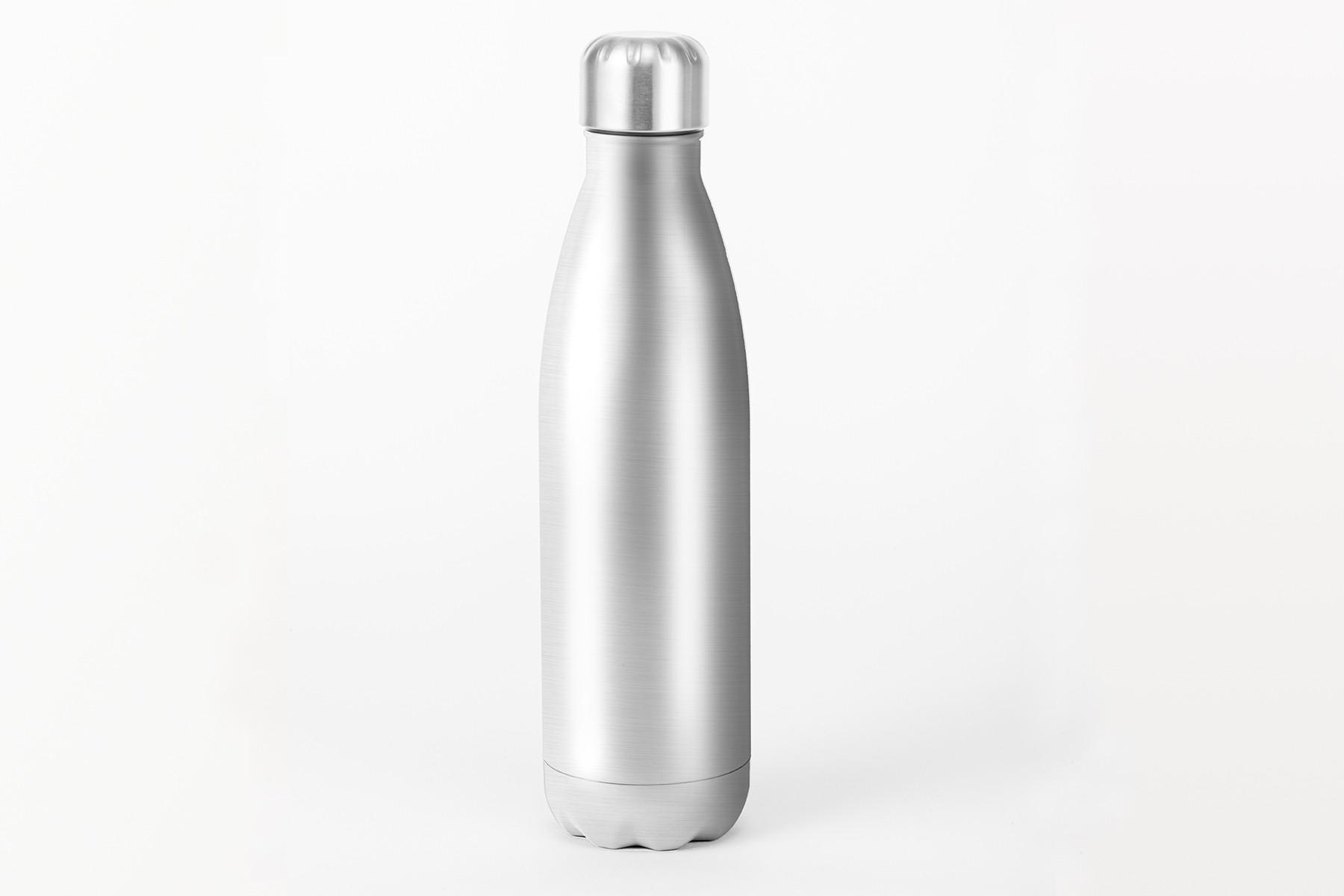 Isolierte Trinkflasche silber, 500ml