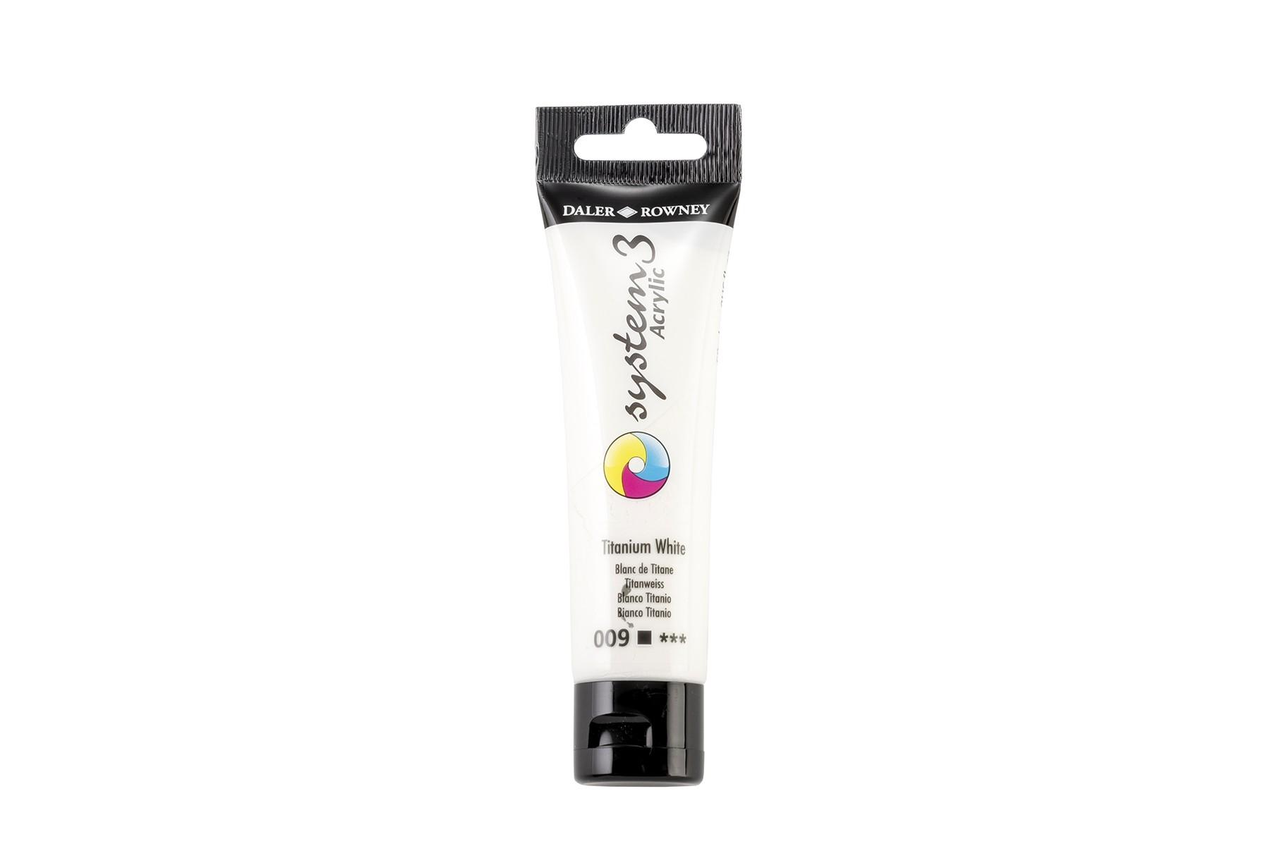System 3 Acrylfarbe weiß, 59ml