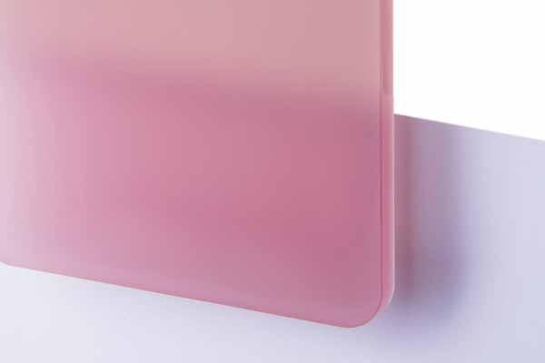TroGlass Satins Rosa lichtdurchläss. 3mm
