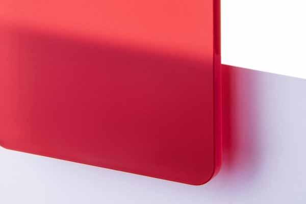 TroGlass Satins Rot lichtdurchlässig 3mm