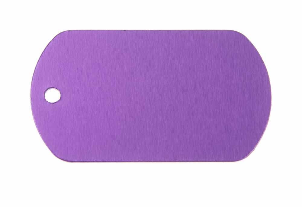 ID tag anodised aluminium Violet 50x29mm