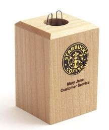 Paper Clip Holder Box: Maple