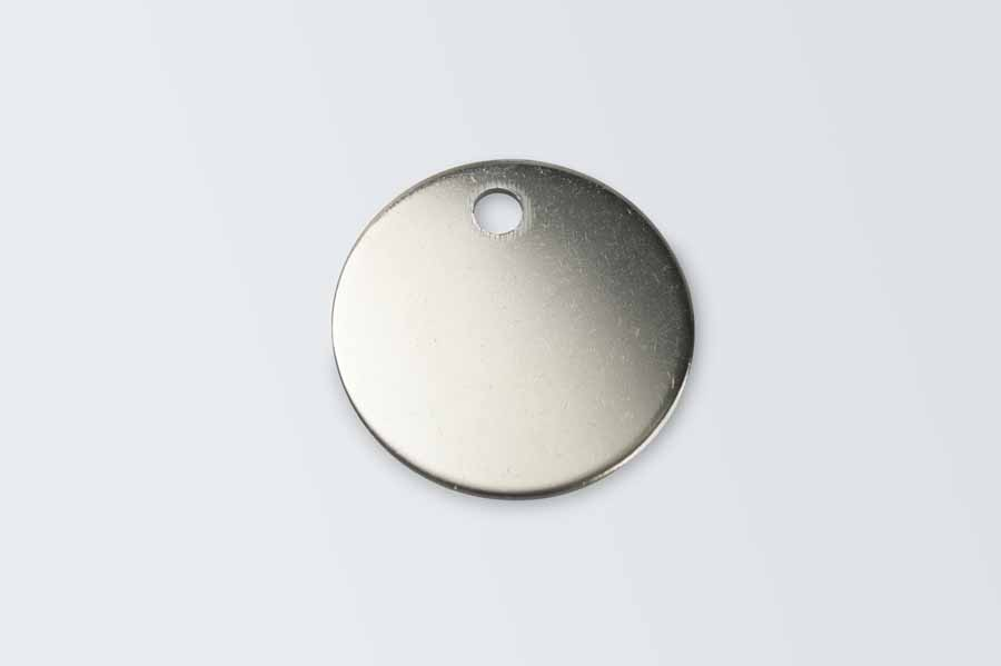 "1"" Diameter Nickel Plated Disc x 10"