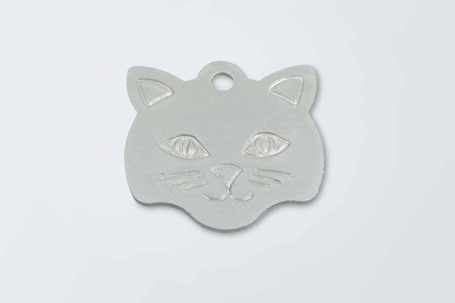 Silver Aluminium Cat Pet Tag
