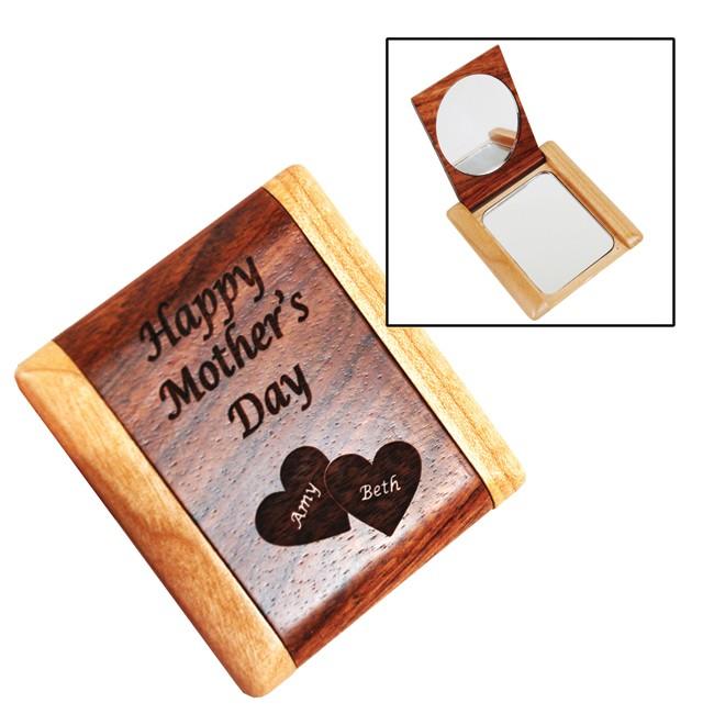 Wooden Combo Pocket Mirror