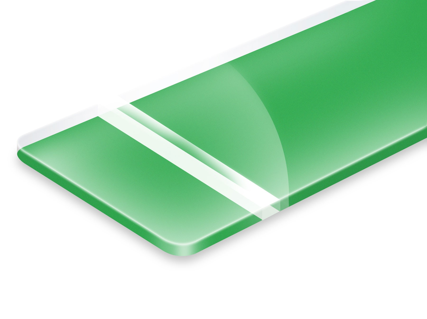 PHR900-209 Clear/Bright Green 3,2mm
