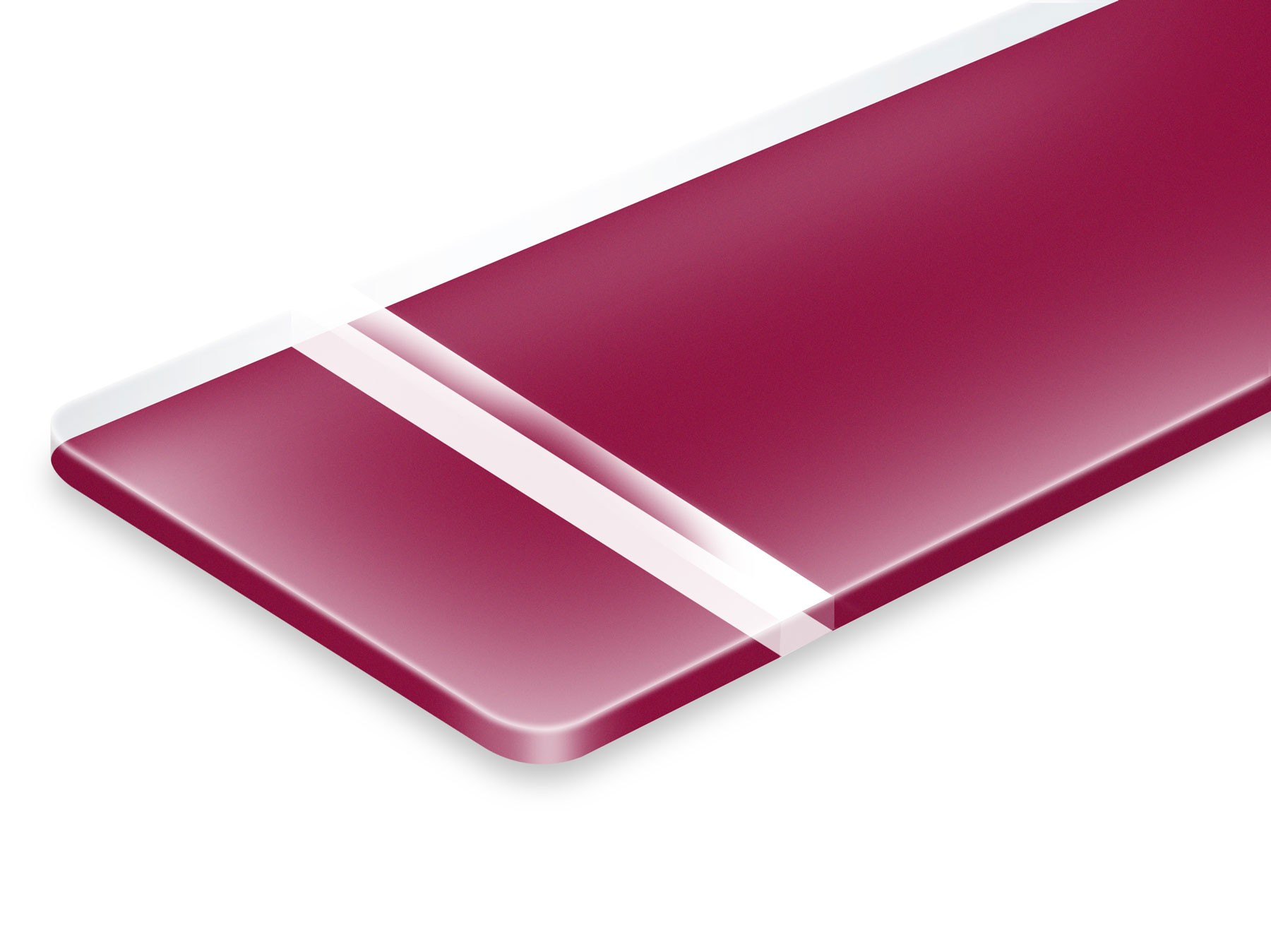 PUR631-206 Matte/Ruby 1,6mm