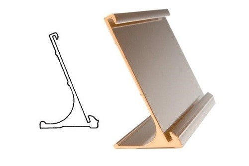 "8"" x 2"" Gold Desk Holder"
