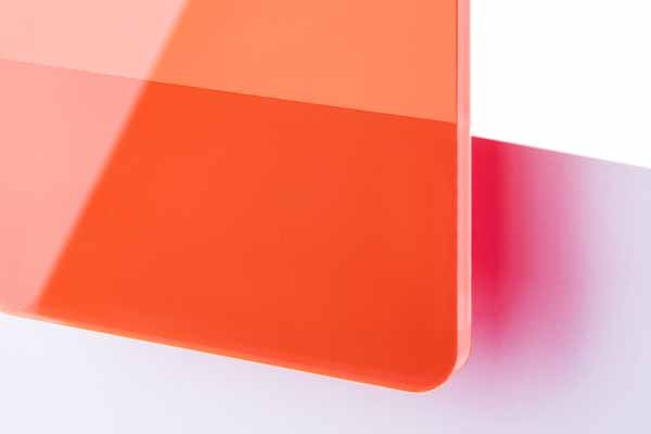 TroGlass Colour Gloss Red fluorescent 3mm
