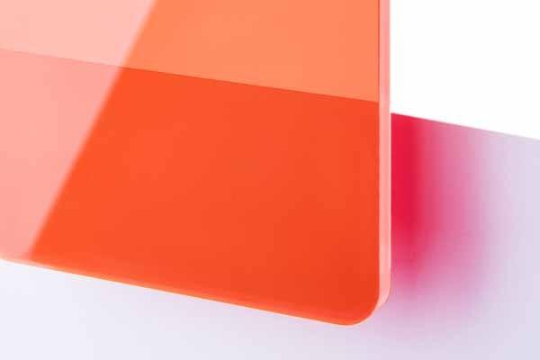 TroGlass Colour Gloss Red fluorescent 3mm