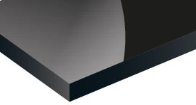 BLACK GlOSS TROPHY ALUM 1220 x 610mmX0.5MM