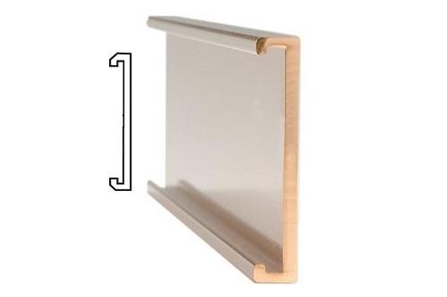 """10""""x 1.1/2"""" Plain Gold Wall Holder"""
