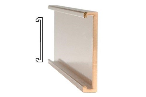 "36"" x 2"" Plain Gold Wall Holder"
