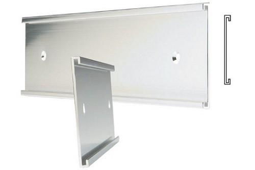 "8"" x 1"" Plain Silver Wall Holder"