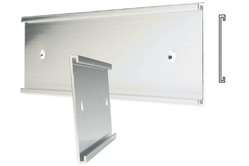 "36""x 1"" Plain Silver Wall Holder"